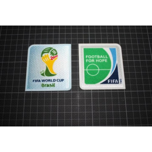 FIFA World Cup Brazil 2014 /& Football For Hope Sleeve Patches//Badges Brasil