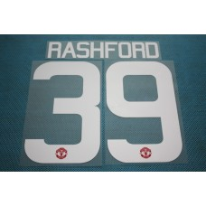 Premier League 2015-2016 Manchester United #39 Rashford HomeKit Nameset Printing