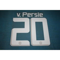 Manchester United UEFA Champions League 2013 - 2014 #20 v. Persie HomeKit / Awaykit Name set Printing
