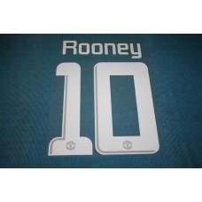 Manchester United UEFA Champions League 2013 - 2014 #10 Rooney HomeKit / Awaykit Name set Printing
