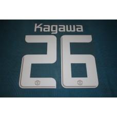 Manchester United UEFA Champions League 2013 - 2014 #26 Kagawa HomeKit / Awaykit Name set Printing