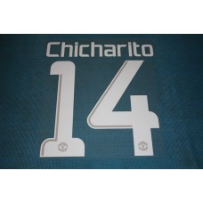 Manchester United UEFA Champions League 2013 - 2014 #14 Chicharito HomeKit / Awaykit Name set Printing