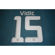 Manchester United UEFA Champions League 2013 - 2014 #15 Vidic HomeKit / Awaykit Name set Printing