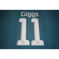 Manchester United UEFA Champions League 2013 - 2014 #11 Giggs HomeKit / Awaykit Name set Printing